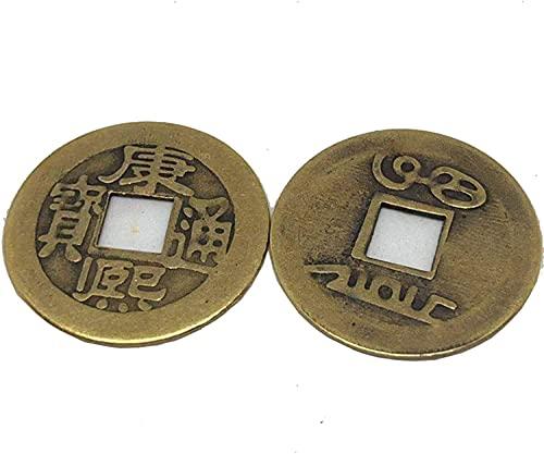 Buddha Statute Decoración para el hogar 0.9 pulgadas 2.2Cm Monedas de la fortuna chinas Feng Shui I-Ching Monedas Monedas chinas de la buena suerte Moneda de la antigua dinastía china (20 piezas) Deco