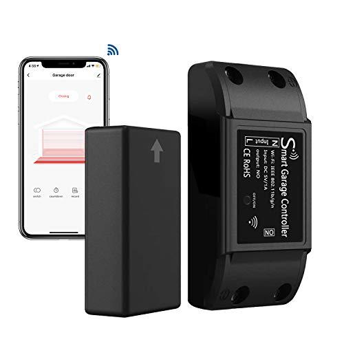 AGSHOME Smart WLAN Garagentoröffner, Drahtlose Installation, Kompatibel mit Alexa/SmartLife app, kein Hub erforderlich, Einfache Einrichtung
