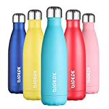 BJPKPK Stainless Steel Water Bottles -17Oz/500ml -Insulated Water Bottles Keep Cold for 24 Hours and hot for 12 Hours, Metal Water Bottles, BPA Free - School Water Bottles, Turquoise