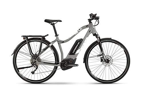 HAIBIKE Sduro Trekking 3.0 Damen Pedelec E-Bike Fahrrad grau/weiß 2019: Größe: L