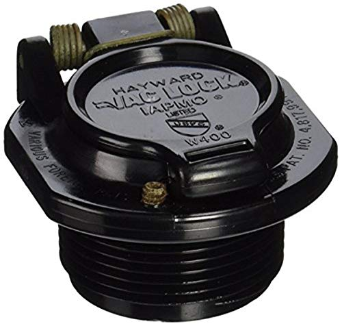 Hayward W400BBKP Black Free Rotation Vacuum Lock Safety Wall Fitting Replacement for Hayward Navigator Pool Cleaners