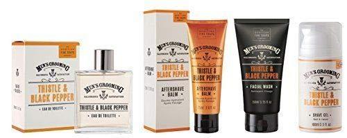 Men's Grooming Scottish Fine Soaps Thistle & Black Pepper Ultimate Shaving Set