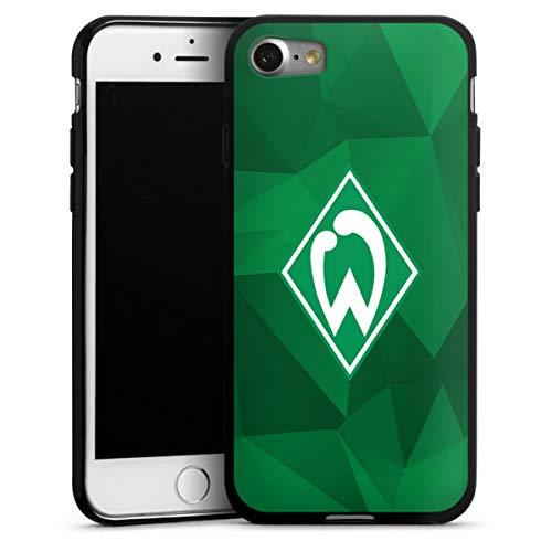 DeinDesign Silikon Hülle kompatibel mit Apple iPhone 7 Case schwarz Handyhülle SV Werder Bremen Camouflage Offizielles Lizenzprodukt