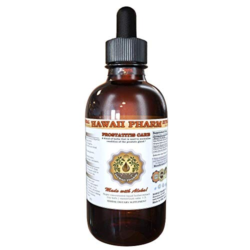 Prostate Health Dietary Supplement: Pygeum (Pygeum Africanum) Bark, Saw Palmetto (Serenoa Repens) Berry, Stinging Nettle (Urtica Dioica) Leaf Tincture (Alcohol-Based Liquid Extract) 2 oz