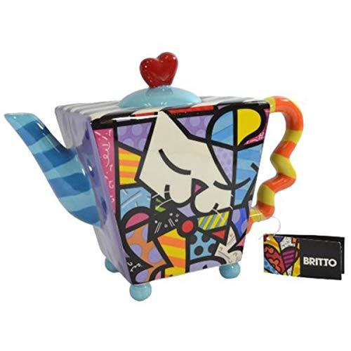 Romero Britto Teekanne, Sammlerstück Katze