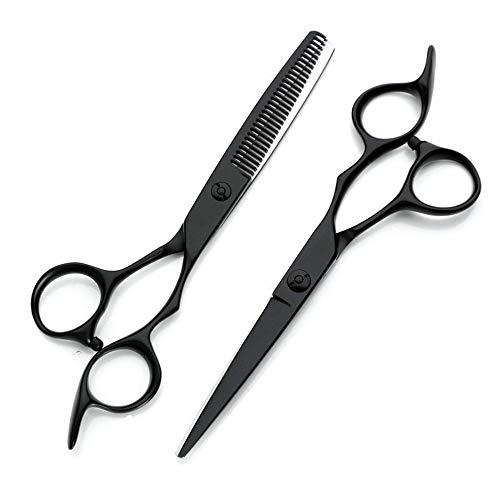 Best Scissors for Cutting Hair, Hair Scissors Professional Flat Cut Teeth Cut Thin Shears Bangs Cut for Family, Hair Salon(Black)