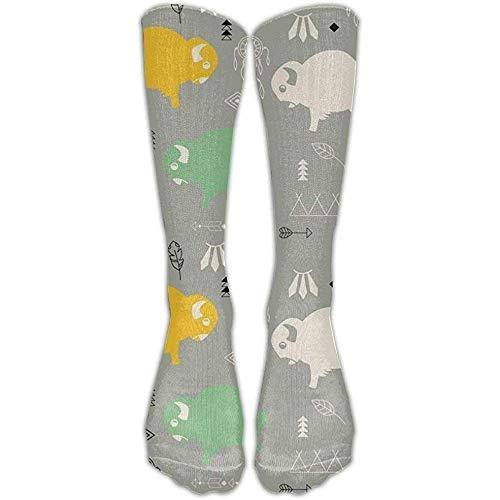 NA schattige baby buffel vrouwen mannen hoge sokken