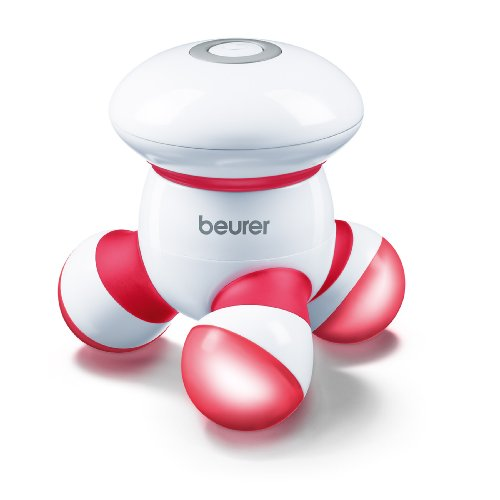 Beurer Handheld Mini Body Massager with LED light, Gentle and Comfortable Vibration, Easy Hand Grip, Portable, Gentle Pressure Point Massage, Massage Tool Easy Palm Fit, Batteries Included, MG16