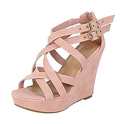 Top Moda Lindy-3 Platform Sandals MVE Shoes, mve Shoes Lindy 3 Blush Nelly Size 7
