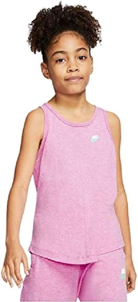 Nike Girl's (Little Kids/Big Kids) Jersey Tank Top Large