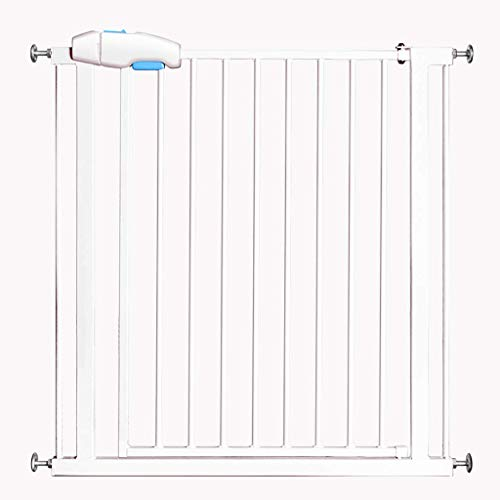 ZTMN Safety Gate Portable Dog Safe Guard Baby Safety Playpen, Metal Fire Gate Room Divider, Fireplace/Pet Fence (Size: 125-132)