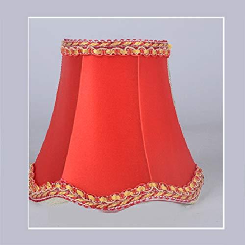 Wave-Bottom Zubehör Stoff-Lampenschirm – Kerze, Kronleuchter, Hängelampe, Tisch-Lampenschirm, moderner europäischer Stil, 18#, 8*13*12 cm