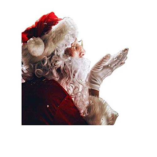 Yurgrt Weihnachten Auto Fenster Aufkleber 3D Cartoon Santa Realistische Aufkleber,Car Decal Sticker Windshield Christmas Santa Claus Waving Decor Ornament,für Auto Heckscheibe(B)