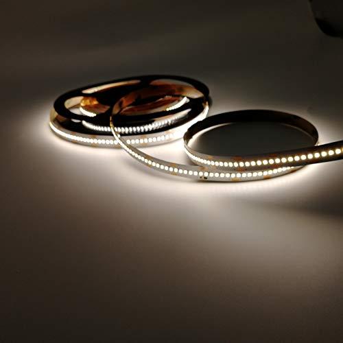 Rolle 5 Meter Streifen 1500 LED 2216 SMD Licht einfarbig wählbar 5 Meter 24 V DC mit doppelseitigem 3M CRI 95+ MOD. PREMIUM (2700 K warmes Licht (warmweiß)