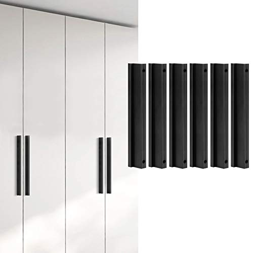 Tiradores de armario de cocina, 6 juegos de tiradores de armario, para armarios, tocadores, cajones, armarios(96mm)