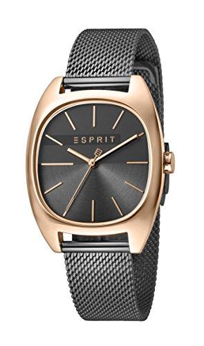 Esprit Damen Analog Quarz Uhr mit Edelstahl Armband ES1L038M0125
