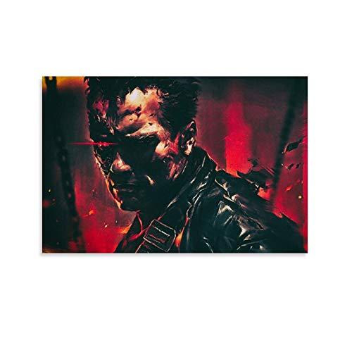 ZXCDS Terminator 2 Wallpapers 4K Poster décoratif sur toile pour salon, chambre à coucher 30 x 45 cm