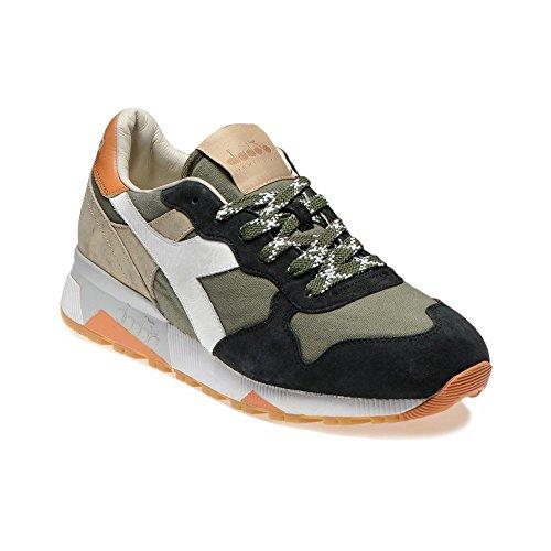 DIADORA HERITAGE uomo sneakers basse TRIDENT 90 C SW 201.161304 01 C6158 45 VERDE-BEIGE