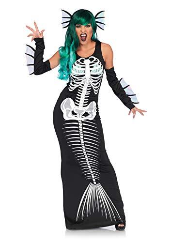 Leg Avenue - Disfraz de sirena de esqueleto mediano/grande