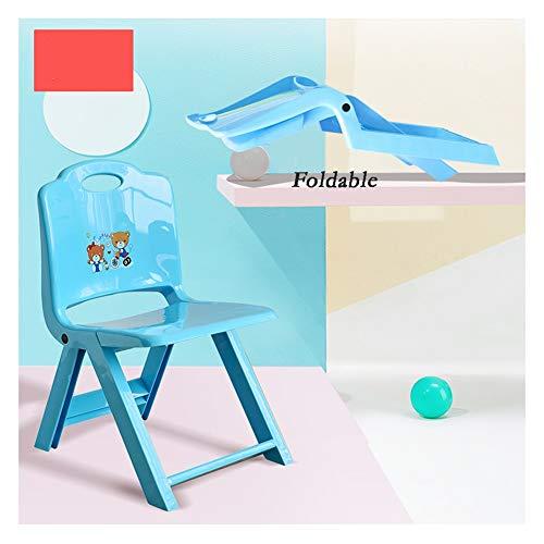 CHAXIA Tabouret Enfant Fauteuil Chaise Pliante Jardin d'enfants Ménage Antidérapant Petite Chaise en Plastique Plus Épais Petit Banc (Color : Blue)