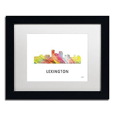 Trademark Fine Art MW0381-B1114MF Lexington Kentucky Skyline WB-1 by Marlene Watson
