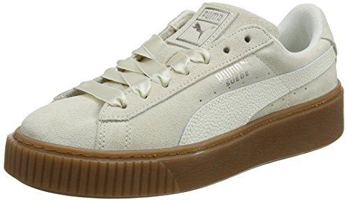 PUMA Damen Suede Platform Bubble WN's Sneaker, Beige (Marshmallow), 40 EU