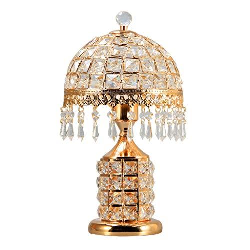Lámpara de Mesa Interruptor de botón de cristal de la lámpara de tabla doble con latón antiguo teñido y acabado moderno estilo conciso lámpara de escritorio for el dormitorio Oficina Sala de estar Lám
