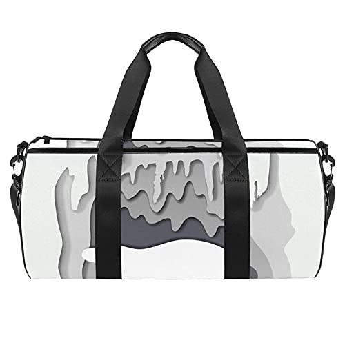 Lindo Fox Head Sports Gym Bag para hombres y mujeres, bolsa de gran capacidad con correa de hombro para gimnasio, deportes, viajes