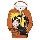 ryyhd Naruto 3D Nuevas Sudaderas con Capucha para Hombres / Mujeres Sudadera De Moda Sasuke Kakashi Kawaii Dibujos Animados Naruto Ropa 4XL