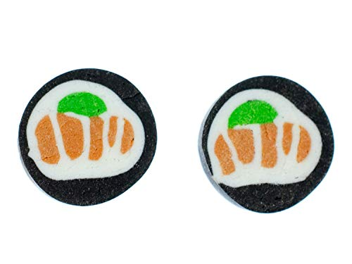 Sushi Ohrstecker Stecker Miniblings Ohrringe Essen Japan Maki Fisch Asien 1 Handarbeit
