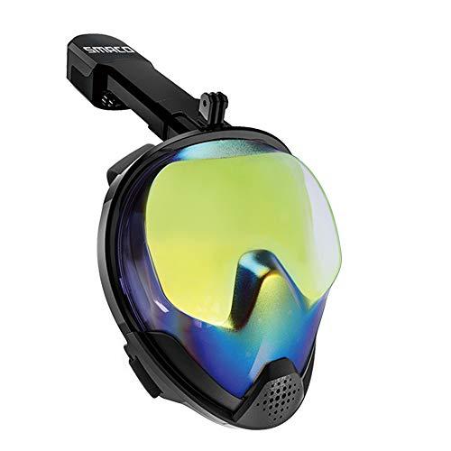 RatenKont Mascarilla de Snorkel de Cara Completa Hombres y Mujeres Máscara de Buceo Anti-Niebla Gafas Natación Anti-Ultravioleta Máscara de Snorkel UV L/XL
