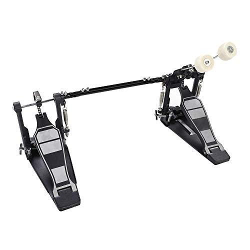 Fußmaschine, Doppel-Fußmaschine Zink-Aluminium-Legierung Trommel Pedal Doppel Schlagzeug Pedal mit 2 Drumsticks