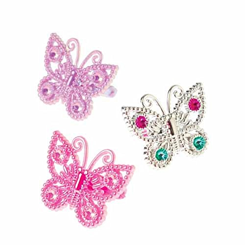 U.S. Toy JA739 Butterfly Rings