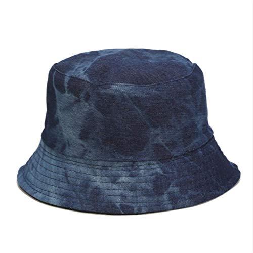 Bucket Hat Chapeau Tie Dye Denim Bucket Hat Cap Casual Jean Réversible Panama Two Side Wear Femmes Chapeau De Soleil Randonnée en Plein Air Casquette De Pêche Adultize Darkdenim