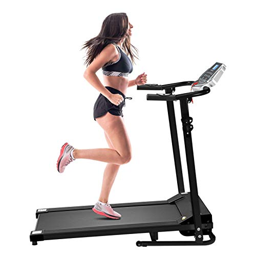 Pantalla LCD, cinta de correr eléctrica plegable, máquina de fitness para interiores y exteriores, 12 programas preestablecidos, oficina en casa, fitness aeróbico BJY969