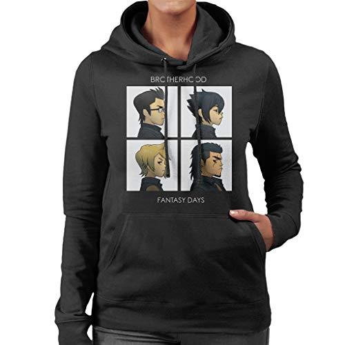 Cloud City 7 Final Fantasy Brotherhood Days Women's Hooded Sweatshirt