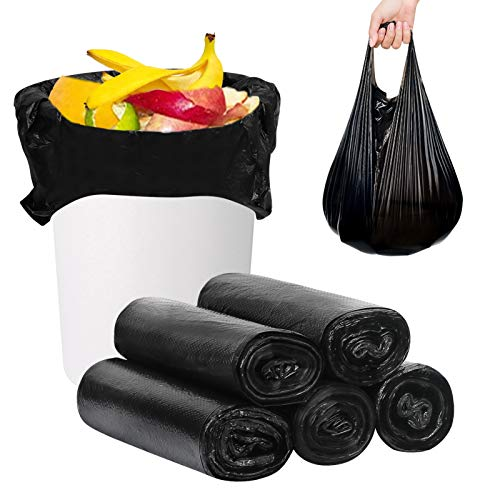 FYY Rubbish Bags, Trash Bags, Garbage Bags, 100 Count 22 Gallon [Extra Thick][Leak Proof] Rubbish Bags Wastebasket Bin Liners for Home Office Trash Can Black