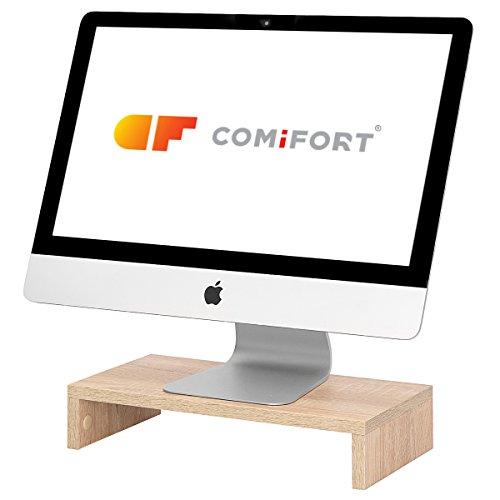 COMIFORT Elevador para Ordenador o Portátil- Funcional Soporte para Monitor, Resistente y Antideslizante de Estilo Moderno y Minimalista, Color Sonoma