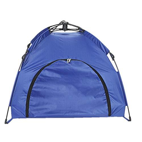 GXHGRASS Opvouwbare kattentent, kleine hond afneembare draagbare huisdier tent, automatische pop-up waterdichte TC outdoor hond tent, automatische openen en sluiten Skeleton