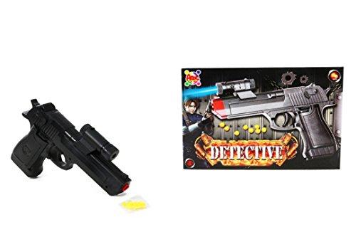 APEL PLASTIK S.r.l. Pistola Giocattolo a Pallini,con Luce Blu, Detective, Miglior Regalo per Ragazzi