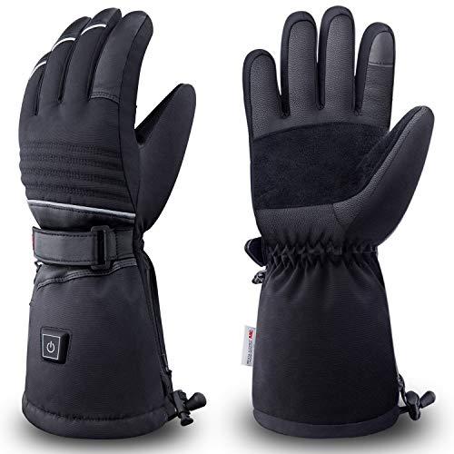 Nueve&Five Heated Gloves for Men Women, Rechargeable Battery Powered Hand Warmer Gloves for Outdoor in Winter - L