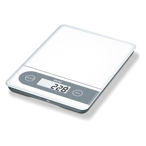 Beurer KS 59 huishoudweegschaal, digitale weegschaal voor keuken en pakjes met 1 gram indeling tot 20 kg