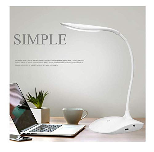 ASPERIA Rechargeable LED Touch On/Off Switch Desk Lamp Children Eye Protection Student Study Reading Dimmer Rechargeable Led Table...