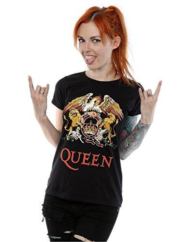 Queen mujer Crest Logo Camiseta XX-Large Negro