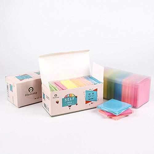 KIWILL Super Sticky Tradicional Paquete de ahorro, hojas adhesivas de colores, extraíbles y reposicionables, 76 x 76 mm, 3 en x 3 in, 25 blocs x 50 hojas