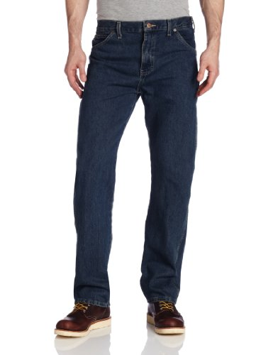 Dickies Men's Regular Straight Fit 6 Pocket Jean, Khaki Tint, 36x30