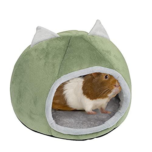 Meerschweinchen-Bett, Meerschweinchen-Spielzeug, Hamsterkäfig, Spielzeug für Meerschweinchen, Kuschelbett und Verstecke, Kleintierbett, Schlafhöhle (27 x 20 cm, Höhleneingang 15 x 13 cm)