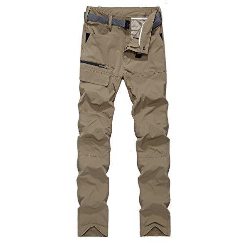 Men's Outdoor Sportswear Water Resistant Ribstop Hiking Pants Large Beige