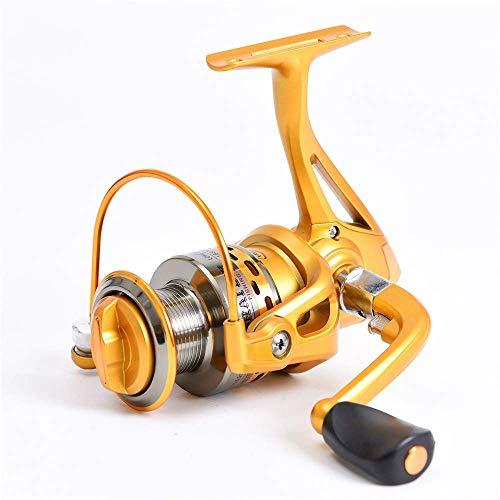 DGHJK Carrete de Pesca Metal al Aire Libre 6 Ejes Rueda de Alambre de Pescado Equipo de Pesca Exquisita Mano de Obra Carrete de Pesca portátil y práctico