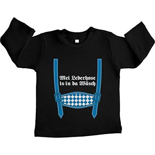 Shirtgeil MEI leren broek is in da was - Oktoberfest Unisex baby shirt met lange mouwen maat 66-93